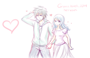 Gruvia Week. Nervous by Inspired-Destiny