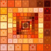 Indian summer quilt by Aspartam