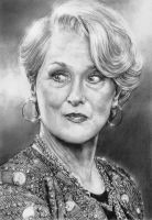 Meryl Streep by arcitenens