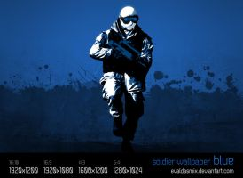 Soldier wallpaper: blue by evaldasmix