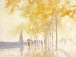 A Golden Moment on the Strand by litka