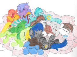 Light Family Pillow Pile by Invidlord