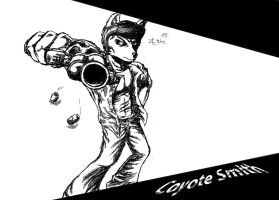 Coyote Smith as a coyote by ZLMike