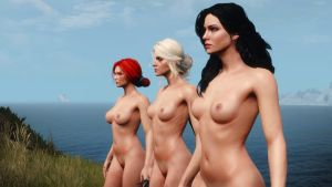 Triss, Yennefer and Ciri Naked 2/2 by MetalBR