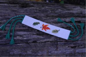 Friendship Bracelet 'Falling Leaves' by releaserevolverenew