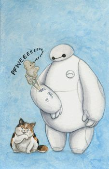 BayMax and Mochi by AmberStoneArt