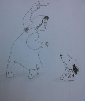 Steven and Snoopy 2 by artaddictive