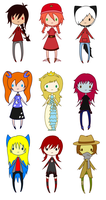 New Style Chibi Dump 5 by AskTheRabbitPrince