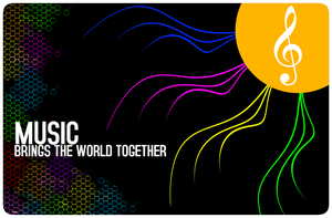 Music Brings the wrld tgther by Quarion-Design