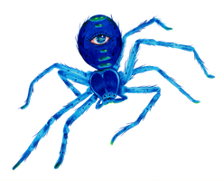 My Blue Arachnophobia by BlackInfinity666