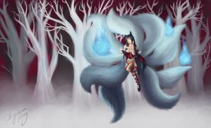 Ahri, the Nine-Tailed Fox. by FATALxFRAME