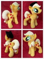 Applejack Plushie (With Hat!) by equinepalette