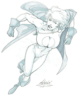 PowerGirl by Matt Haley by cerebus873
