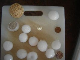 Hail Storm-Hail Size Compare by SilverPyroLupogryph