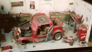 Old Ford in the shop by finhead4ever