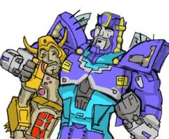 Primus and Unicron by zodberg
