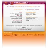 SDGLang Traduction - website by Diabloracing