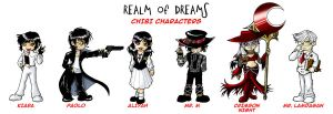 ROD Chibi Characters Set A by lady-storykeeper