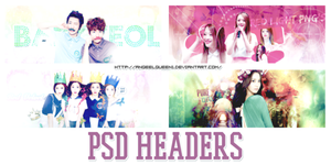 PSD HEADERS PACK byisra by AnqeelQueen1