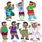 Rena Outfits Sheet by SterlingSilverfish