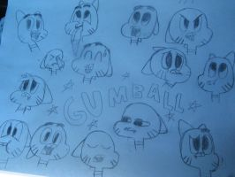 the amazing doodles of gumball by 1970superbird