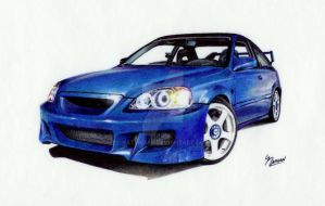 Blue Civic Si by Naterman