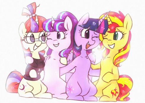 Four little magical eggheads by HiccupsDoesArt