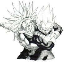 ssj trunks and ssj vegeta by trunks24