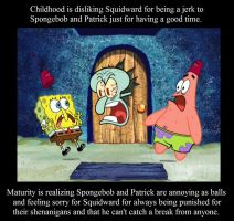 Childhood / Maturity: Squidward by VGAfanatic