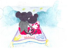 Disney Mouses and Aladdin by wilterdrose