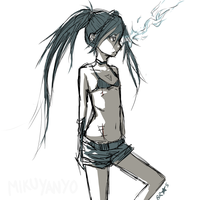 Black Rock Shooter by walrusbukkit