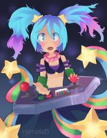 Arcade Sona fan art by Hamzilla15