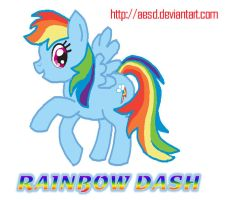 My Little Pony: Rainbow Dash by AESD