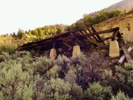 Spring Canyon series: Railroad tramway ruins by Raptorguy14