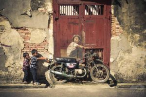 One of Ernest Zacharevic drawing in Penang by Izam01