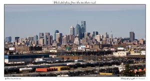 Philadelphia from the s rail by yellowcaseartist