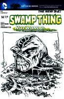 Swamp Thing Sketchcover commission by ElfSong-Mat