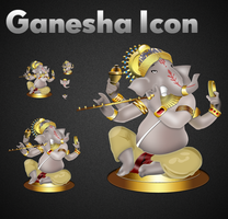 Ganesha Icon by bohemiadrinker