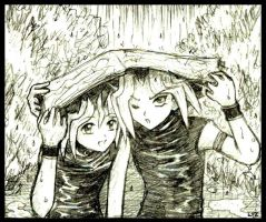 Caught in the rain by Lizeth