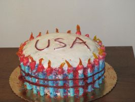 4th July cake by EternalLoveAngle