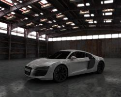 Audi R8 in Hangar closer by Vikingheretic