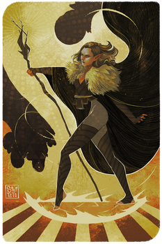[TAROT CARD] Telyn Lavellan by StefTastan