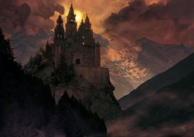 mysterious castle by absinthe-girl