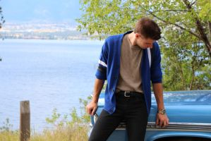 Sixties Photo Shoot: Man and Car by ShaneAlice
