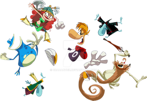 Rayman and Friends Get Ready for an Ass Whoopin' by Bradandez