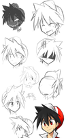 Red doodle dump by yassui