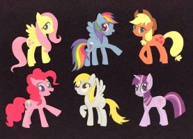 Construction Paper Ponies by TheCheeseburger