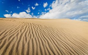 Mesquite Dune and Clouds by nathanspotts