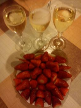 Strawberies and champagne by Billy-bumbler
