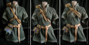 Art Nouveau leather archer set by Fantasy-Craft